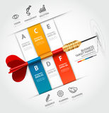 Business concept infographic template. Business ta Royalty Free Stock Photos