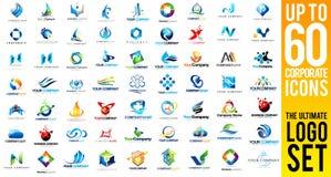 Business Corporate Logo Set Royalty Free Stock Image