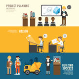 Business design conference concept people set presentation, plan Stock Images