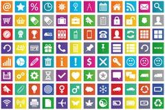 Business, e-commerce, web and shopping icons set i Royalty Free Stock Photos