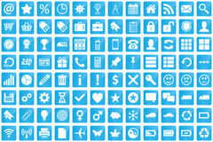Business, e-commerce, web and shopping icons set in modern style Stock Photos