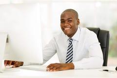 Business executive computer Stock Image