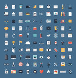 Business and finance flat icons big set Royalty Free Stock Image