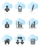 Business and Finance Icons Stock Photography