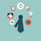 Business graphics and icons Stock Images