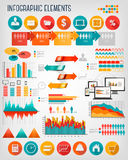 Business info graphics flat template set Royalty Free Stock Image