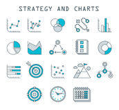 Business Infographic icons  Vector Graphics Stock Image