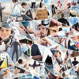 Business life collage Royalty Free Stock Photography