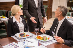 Business lunch Royalty Free Stock Image
