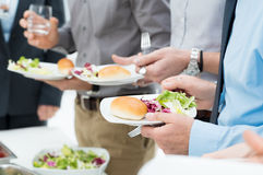 Business Lunch Detail Royalty Free Stock Photography