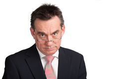 Business Man in Suit with Stern Look Royalty Free Stock Photo