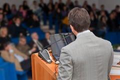 Business people group at meeting seminar presentation Royalty Free Stock Image