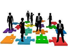 Business people human resources team puzzle Royalty Free Stock Photography