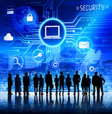 Business People with Information Security Concept Royalty Free Stock Photography