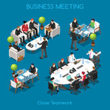 Business 01 People Isometric Royalty Free Stock Photos