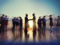 Business People New York Outdoor Meeting Concepts Royalty Free Stock Image