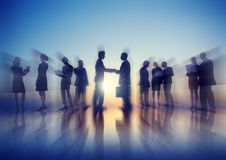 Business People New York Outdoor Meeting Concepts Stock Photos