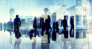 Business People Silhouette Cabin Crew Airport Professional Occup Royalty Free Stock Photography
