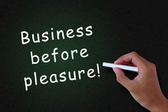 Business before Pleasure Royalty Free Stock Images