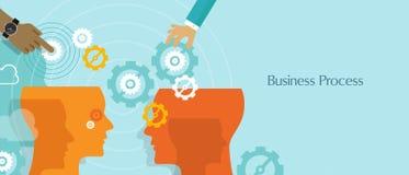 Business process gears management work flow Stock Photo