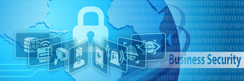 Business Security Protection Banner Royalty Free Stock Image