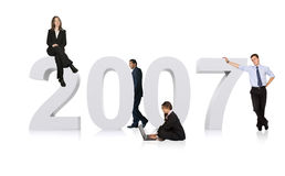Business team for 2007 Stock Image