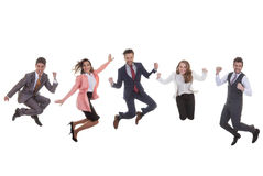 Business team group jumping for success Royalty Free Stock Photography