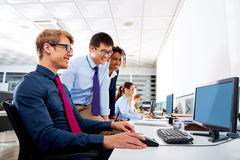 Business team young people multi ethnic teamwork Royalty Free Stock Photography