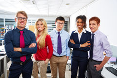 Business team young people standing multi ethnic Royalty Free Stock Photo