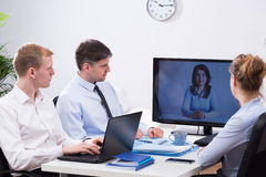 Business video conference Stock Photo