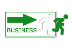 Business way icon Stock Photography