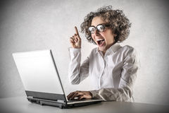 Business woman having an idea Royalty Free Stock Image