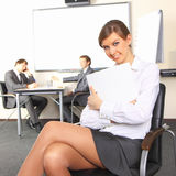 Business woman with team mates Stock Photography