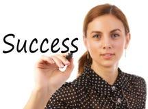 Business Woman Writing Success Stock Photography