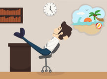 Businessman relax dream Royalty Free Stock Image