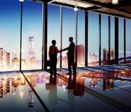 Businessmen Handshake Corporate Greeting Communication Concept Royalty Free Stock Photo