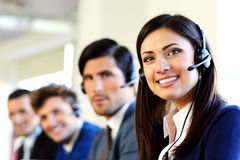 Businesspeople in a call center office Royalty Free Stock Image