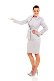 Businesswoman welcome gesture Royalty Free Stock Photography