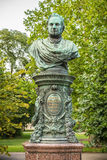 Bust of Andreas Zelinka in Vienna Stadtpark Royalty Free Stock Image