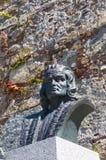 Bust of Christopher Columbus in Calvi Royalty Free Stock Photos
