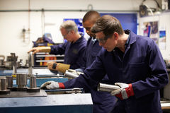 Busy Interior Of Engineering Workshop Stock Photography