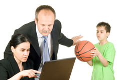 Busy parents Stock Photography