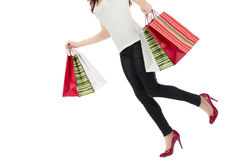 Busy shopping woman Stock Image