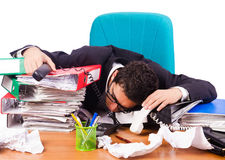 Busy stressed man Royalty Free Stock Images