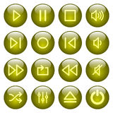 buttons medelspelare Royaltyfri Bild
