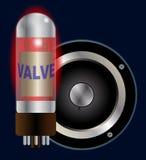 Cône de valve et de haut-parleur d'amplificateur Photo libre de droits