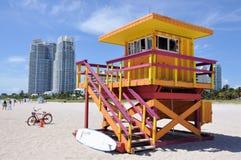 Cabina di Lifegard a Miami Beach Fotografia Stock