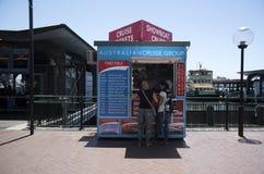 Cabine de billet de bateau de croisière, Quay circulaire - Sydney Photo stock