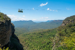 Cable car at Scenic World in the Blue Mountains. Stock Photos