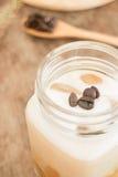 Café glacé frais avec du lait Images stock